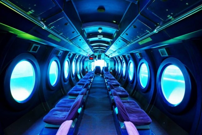 Luxery Interior of the Whale Submarine Maldives